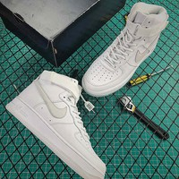 Nike Air Force 1 Hi CMFT PRM QS White Lce Sport Running Shoes - Best Online Sale