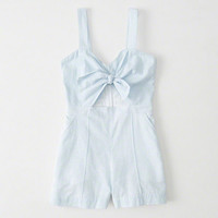 Womens Knot Front Romper | Womens New Arrivals | Abercrombie.com