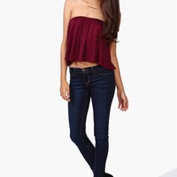 Flow With You Top in Burgundy