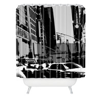 Amy Smith NY Street Grayscale Shower Curtain