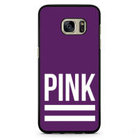 Pink Purple Victoria's Secret Phonecase Cover Case For Samsung Galaxy S3 Samsung Galaxy S4 Samsung Galaxy S5 Samsung Galaxy S6 Samsung Galaxy S7