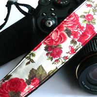 Roses Camera Strap. dSLR Camera Strap. Women accessories