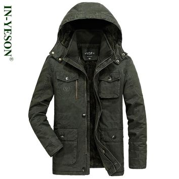 New Plus Size 8XL Big & Tall Outerwear Brand Tactical Military Men's Parka Winter Jacket Men Thermal Warm Fleece Parka Coat Men
