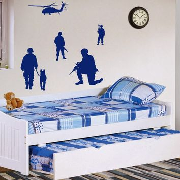 ik728 Wall Decal Sticker Army soldier military shooter sniper vest