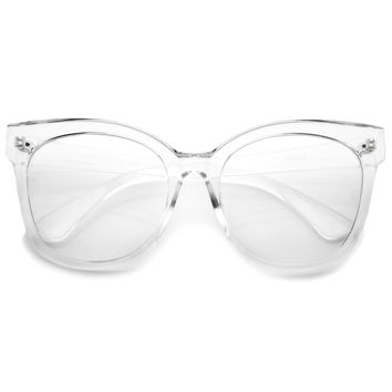 Women's Oversize Retro Clear Lens Glasses A835
