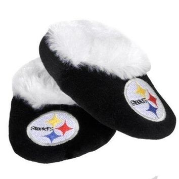 Pittsburgh Steelers Baby Bootie Slippers Infant Children Kids Baby Shower NFL