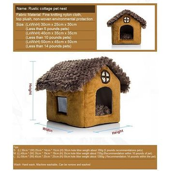 Pomeranian Bichon small dog kennel dog house         S	Bamboo