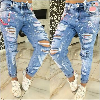 1669ad9b57 Hot Sale 2016 Newest Design Summer Jeans Full Length Zipper Fly