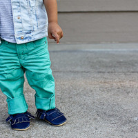 Sale Baby or Toddler Child Moccasins - Pick Your Color and Size- Boy Girl Moccasins