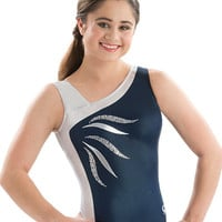 Silver Shimmer Tank Leotard from GK Elite