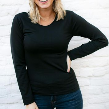 Love This Life Fleece Lined Layering Top