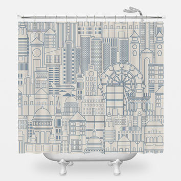 London Town Shower Curtain