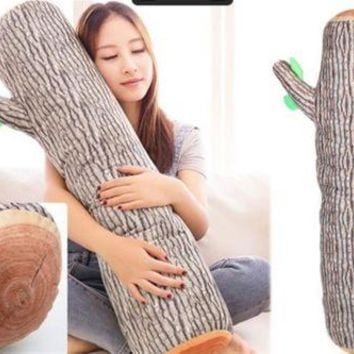 Cushion Bolster Pillow Wood Log Tree Stump Design 94cm x 20cm