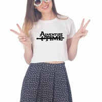 logo adventure time For Womens Crop Shirt ***