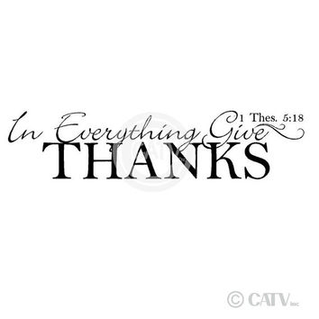 In Everything Give Thanks Thes. 5:18  vinyl lettering wall decal sticker scripture quote