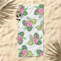 tropical Beach Towel by Sylvia Cook Photography