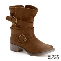 Mid-Shaft Buckle Boots - Women
