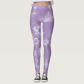 Alice in Wonderland Tea Time Lavender Leggings