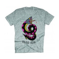 Brand New Men's  BT Snake Slim Fit T-shirt Heather