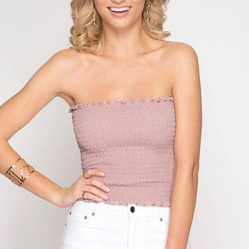 Smocked Bandeau Tube Top (multiple colors available)