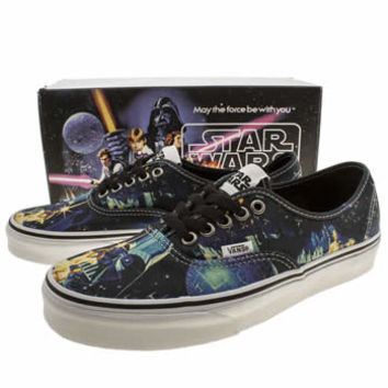 Mens Multi Vans Authentic Star Wars Trainers | schuh