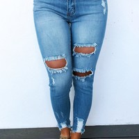 Cut It Out Jeans: Denim