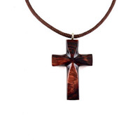 Wooden Cross Necklace, Wooden Cross Pendant, Mens Cross Necklace, Mens Cross Pendant, Mens Wood Cross, Christian Jewelry, Hand Carved Cross