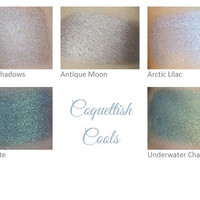 Mineral Eyeshadow Pigment Makeup Sample Set - Coquettish Cools