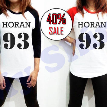 Niall Horan Clothing Shirt One Direction 1D - Unisex 93 Men Women Long Sleeve Baseball Shirt Tshirt Jersey