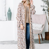 Flexible Leopard Side Slit Duster