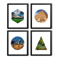 Set of 4 PrintsGeometric Art photo Geometric shape in the photo Modern Wall Art Art Printables Abstract Decor Modern Print Simple Art *17*