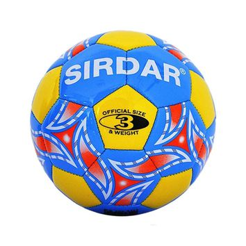 Kid's PU Material Playing Soccer Ball with a Pump Size 3, Yellow/Blue