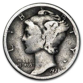1928 Mercury Dime Good/VF