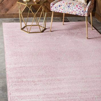 0173 Pink Moroccan Trellis Contemporary Area Rugs