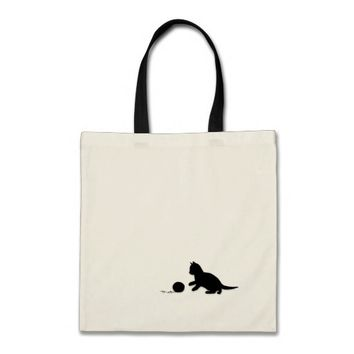 Kitten and Yarn Silhouette Bag