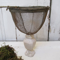 Shabby chic vintage basket garden decor up cycled french moss planter yard and home decor anita spero
