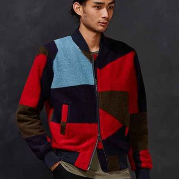 Oxford Lads Textured Wool Bomber Jacket