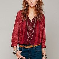 Free People Printed Rayon Of Days Romance Top