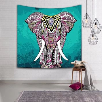 LFH 150X130CM Elephant Tapestry Psychedelic Bohemian Tapestries Wall Hanging Decor Indian Home Hippie Bohemian Tapestry