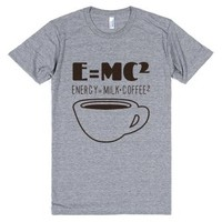 E=Mc Coffee-Unisex Athletic Grey T-Shirt