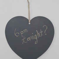 Heart-Shaped Hanging Chalkboard - Urban Outfitters