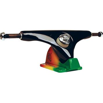 "Gullwing Charger 9.0"" Black/Rasta Longboard Trucks"