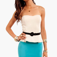 Vanna Belted Peplum Dress ~ TOBI