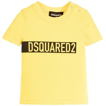 Dsquared2 Baby Boys Yellow Logo T-shirt