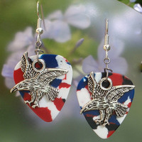 Eagle Guitar Pick Earrings - Choice of Color