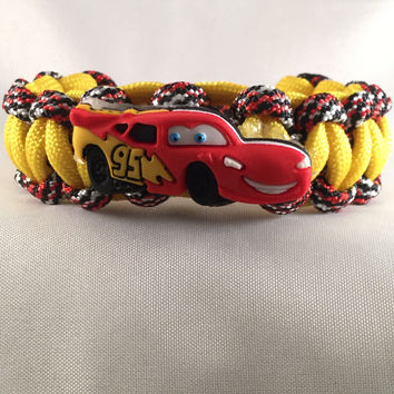 Lightning McQueen - Children Paracord Heaven Survival Bracelet with Knot Closure