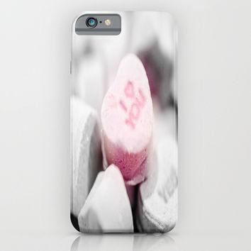 I Love You Conversation Heart Candy iPhone & iPod Case by 2sweet4words Designs