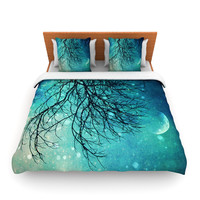 "Sylvia Cook ""Winter Moon"" Fleece Duvet Cover"