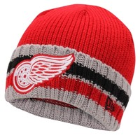 New Era Detroit Red Wings Red Cuff Striper Beanie