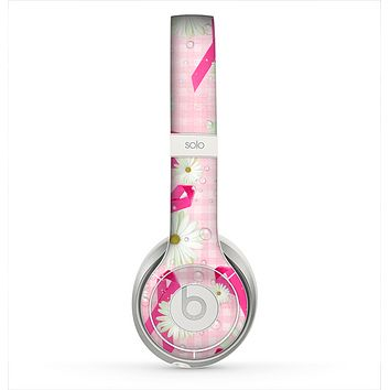 The Pink Ribbon Collage Breast Cancer Awareness Skin for the Beats by Dre Solo 2 Headphones